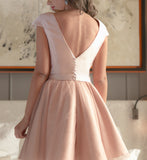 A-line Scoop Homecoming Dress Tulle Short Prom Drsess SKY808