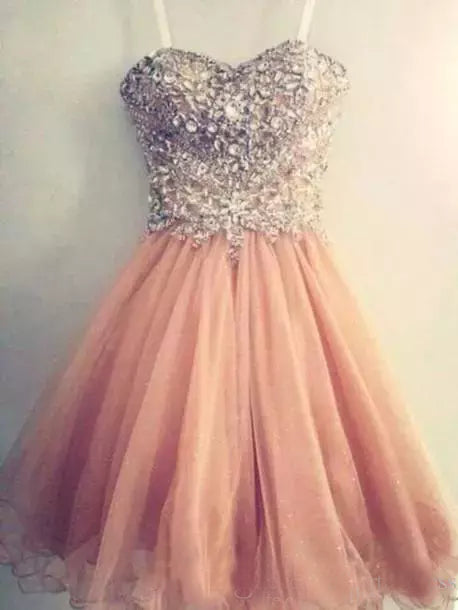 Charming A-line Sweetheart Homecoming Dress Tulle Short Prom Drsess SKY824