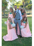 A-line Sweetheart Floor-length Prom Dress Chiffon Bridesmaid Dress SKY836