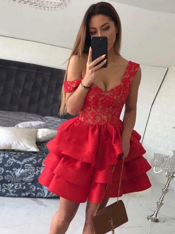 A-line-Off-the-shoulder-Homecoming-Dresses-Red-Short-Prom-Dress-SKY860