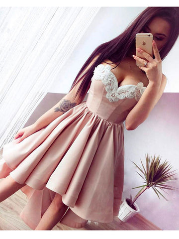 A-line-Sweetheart-Homecoming-Dresses-High-Low-Prom-Dresses-SKY877