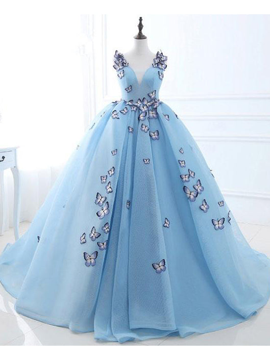 A-line-Ball-Gowns-Straps-Blue-Prom-Dress-Evening-Dress-SKY893