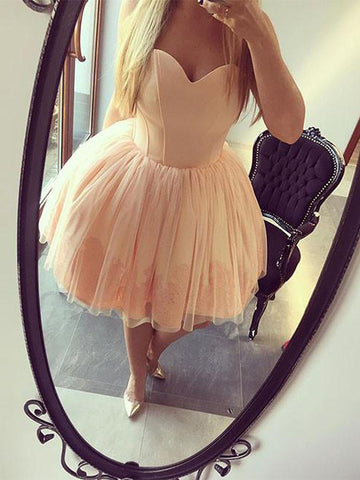 Charming A-line Sweetheart Homecoming Dress Short Prom Drsess SKY929