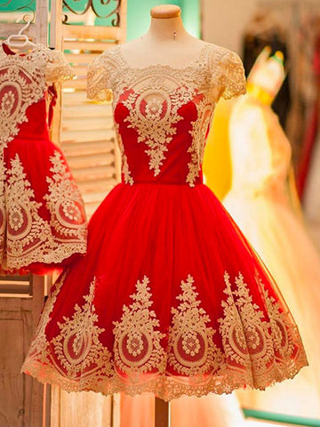 2017 Chic Homecoming Dress Short Red Square Cheap Prom Dress SKY934