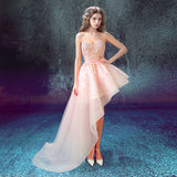 Charming A-line Asymmetrical Sweetheart Homecoming Dress Tulle Short Prom Drsess SKY939