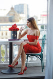 Sheath/Column Red Short Prom Dress Chic Evening Dress Formal Dress SKY970