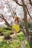 Charming A-line Sweetheart Yellow Short Prom Drsess Formal Dress With Beading SKY977