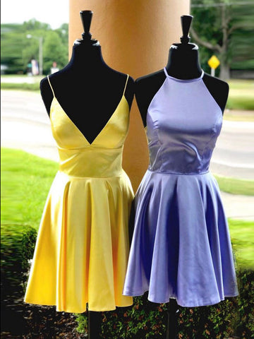 A-line Spaghetti Straps Short Prom Dresses Cheap Homecoming Dress Cocktail Dress WHK018
