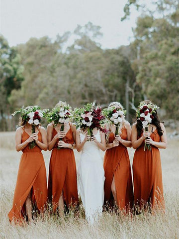 Customized Admirable Bridesmaid Dress Cheap Orange Bridesmaid Dresses AMY2046