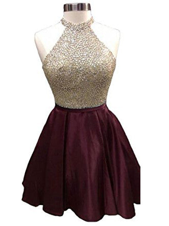Burgundy Homecoming Dresses, Cheap Homecoming Dress Short/Mini Juniors Homecoming Dress