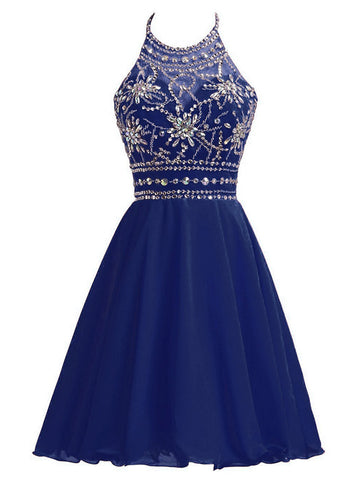Chiffon A-line Homecoming Dress Short/Mini Prom Drsess Juniors Homecoming Dresses kmy036