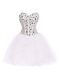 White Homecoming Dress,Cute Homecoming Dress,Short Prom Dress,Juniors Homecoming Dresses