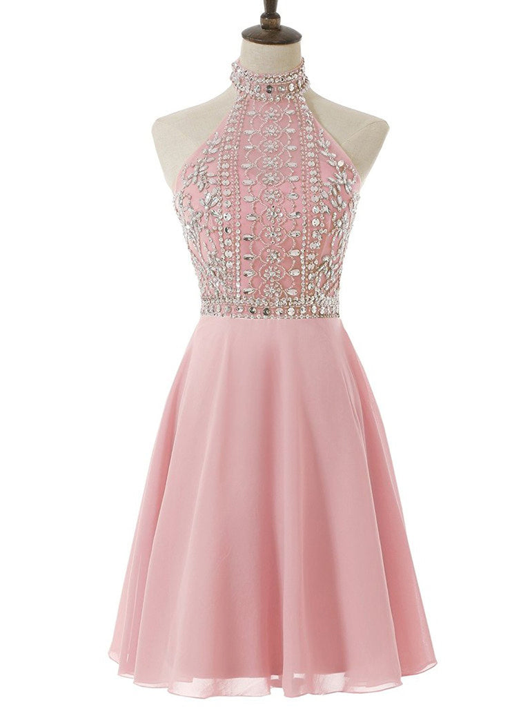 Pink Homecoming Dress,Cute Homecoming Dress,Short Prom Dress,Juniors Homecoming Dresses