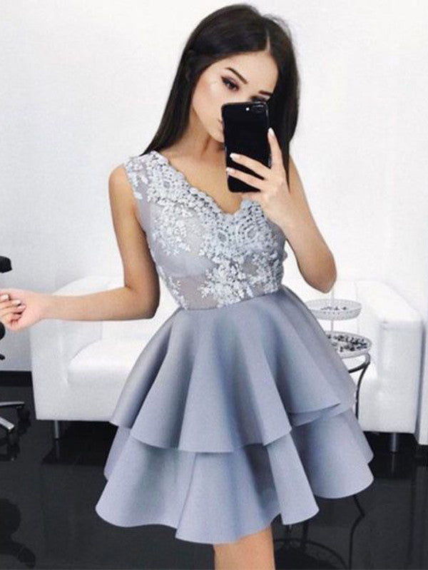 A-line Homecoming Dress Short Prom Drsess Juniors Homecoming Dresses kmy134