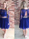 Two Pieces Homecoming Dress Short Prom Drsess Homecoming Dresses kmy143