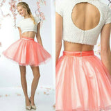 Two Pieces Homecoming Dress Short Prom Drsess Homecoming Dresses kmy144