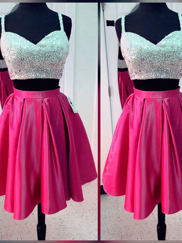 2 Pieces A-line Homecoming Dress Short/Mini Prom Drsess Juniors kmy150