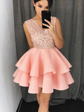 A-line Homecoming Dress 2017 Short Prom Drsess Homecoming Dresses kmy233