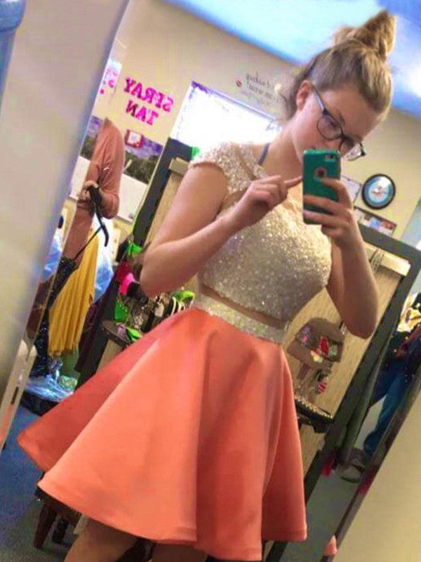 A-line Homecoming Dress Short Prom Drsess Homecoming Dresses kmy283
