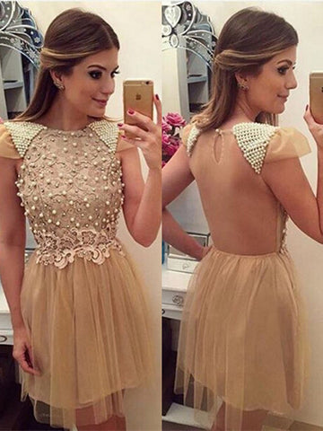 A-Line Homecoming Dress 2017 Short Prom Drsess Homecoming Dresses kmy297