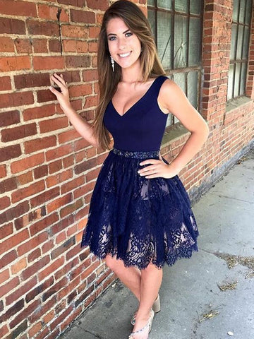 A-Line Homecoming Dress Short Prom Drsess Homecoming Dresses kmy318