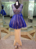 Charming A-line Short Prom Dress Tulle Juniors Homecoming Dress kmy391