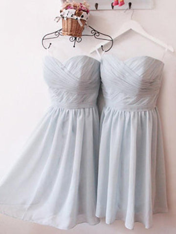 2019 A-line Sweetheart Short Bridesmaid Dresses Prom Gowns Dress kmy411
