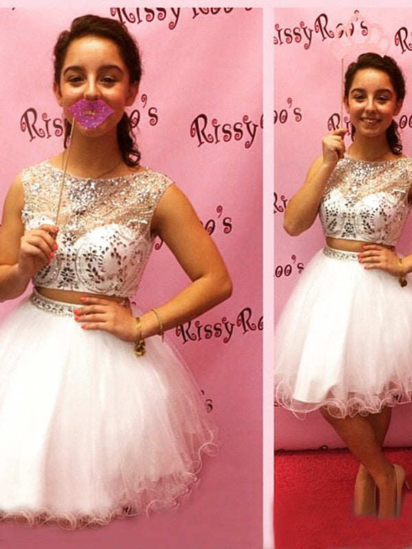 Two Pieces Homecoming Dress Short Prom Drsess Homecoming Dresses kmy424