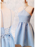 A-line Spaghetti Straps Short/Mini Homecoming Dress Cooktail Dress kmy468