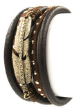 Faux Leather Metal Bracelet