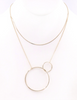 Brass Metal Circle Pendant Necklace