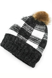 Buffalo Checkered Pom Beanie