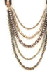 Layered Faceted Bead Pull-Tie Necklace