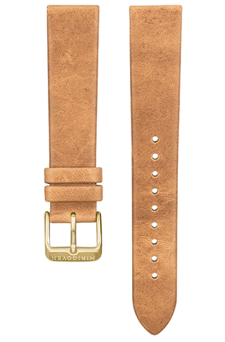 NS Leather Bands - Brushed gold Buckle
