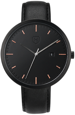 Black + Rose Gold Index