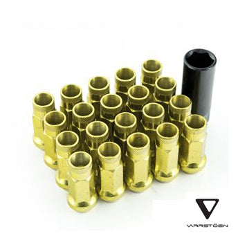 varrstoen lug nut chrome gold