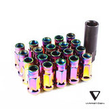 Varrstoen V48 Open Ended Extended Lug Nut Neo Chrome - 20pcs with Key
