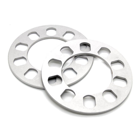 "5 Lug Wheel Spacer (0.25"" 6mm) 5x4.5 5x4.75 5x5 5x114.3 5x120 5x127"