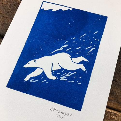 Arctic Swim - Signed Print #43