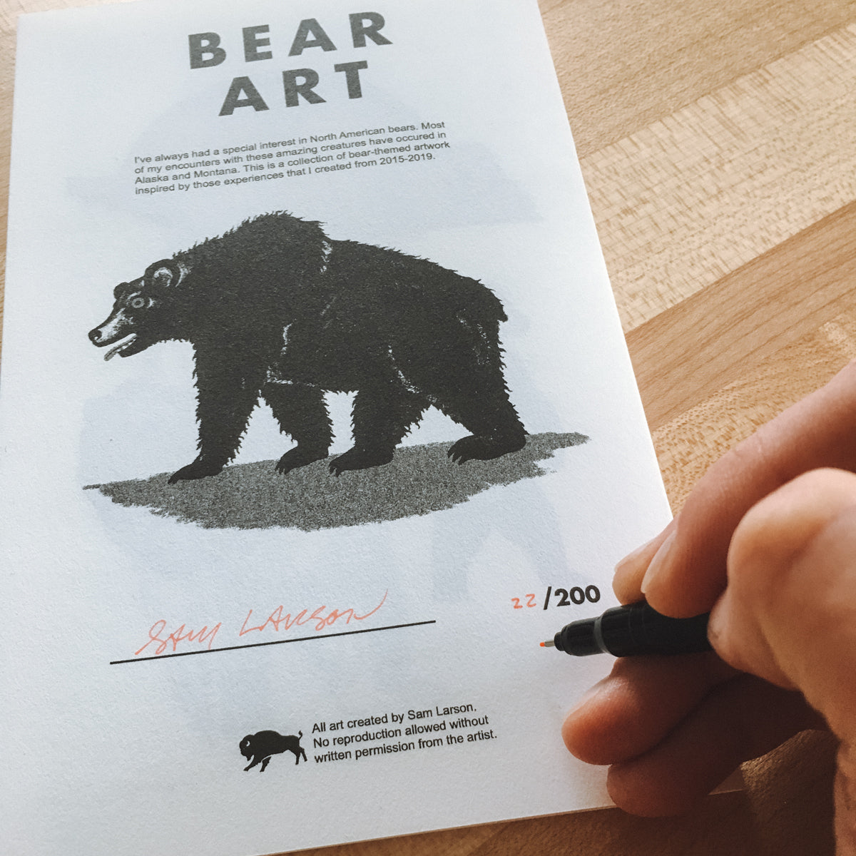BEAR ART - Signed Zine