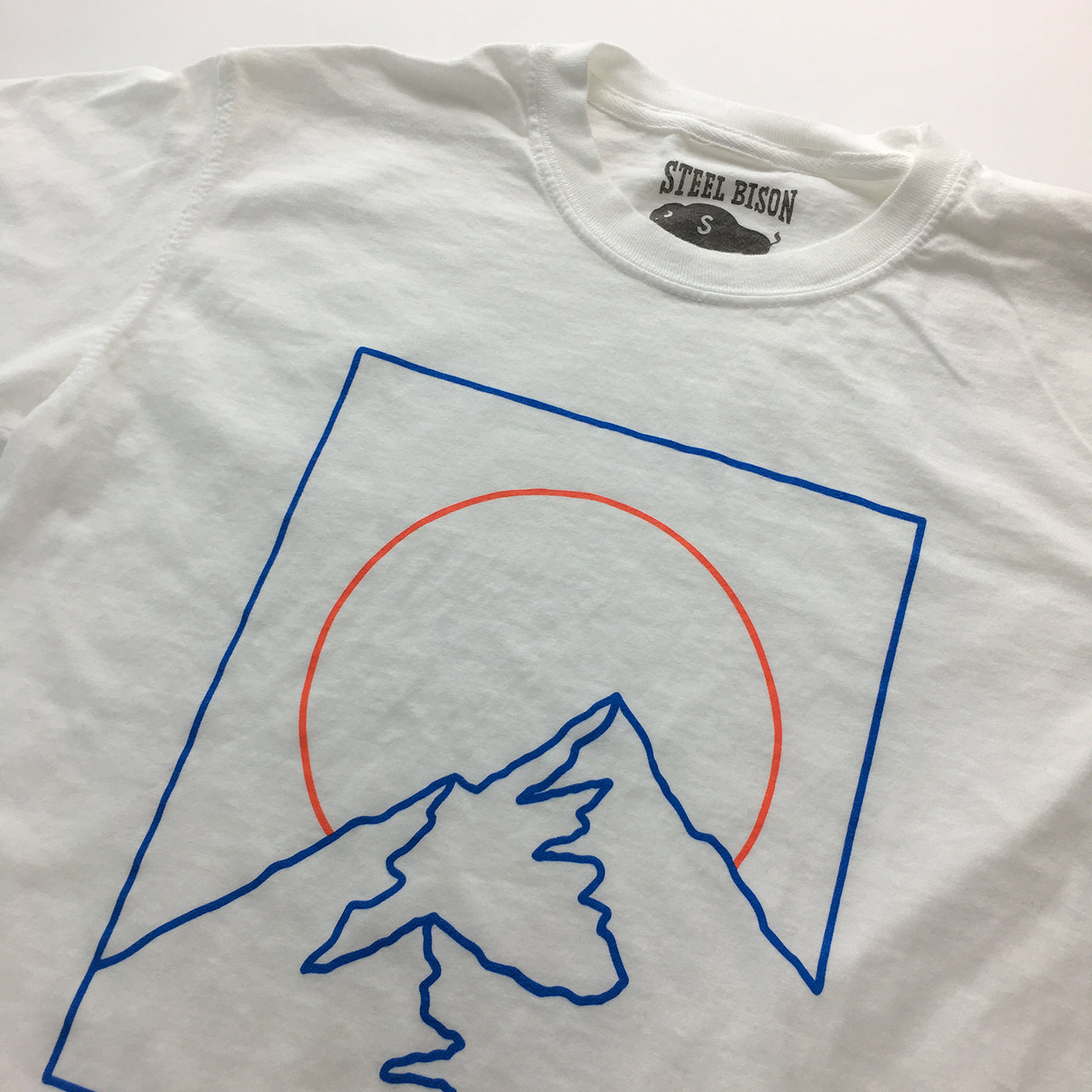 Broken Top - Heavy Cotton T-shirt (White)