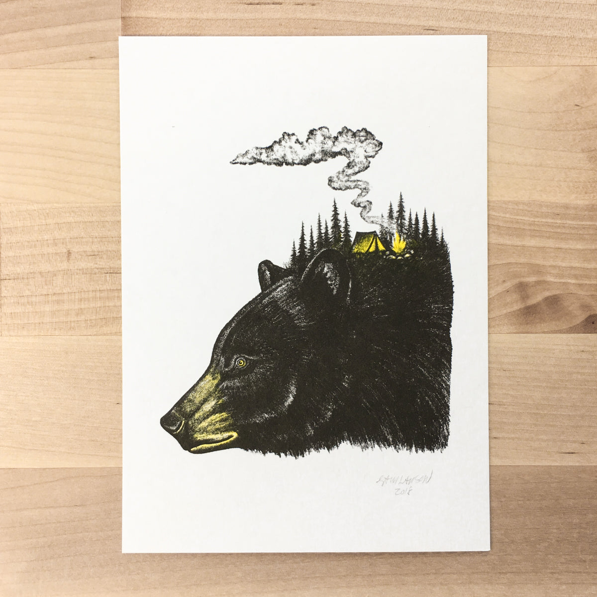 Bear Camp - Signed Print #84