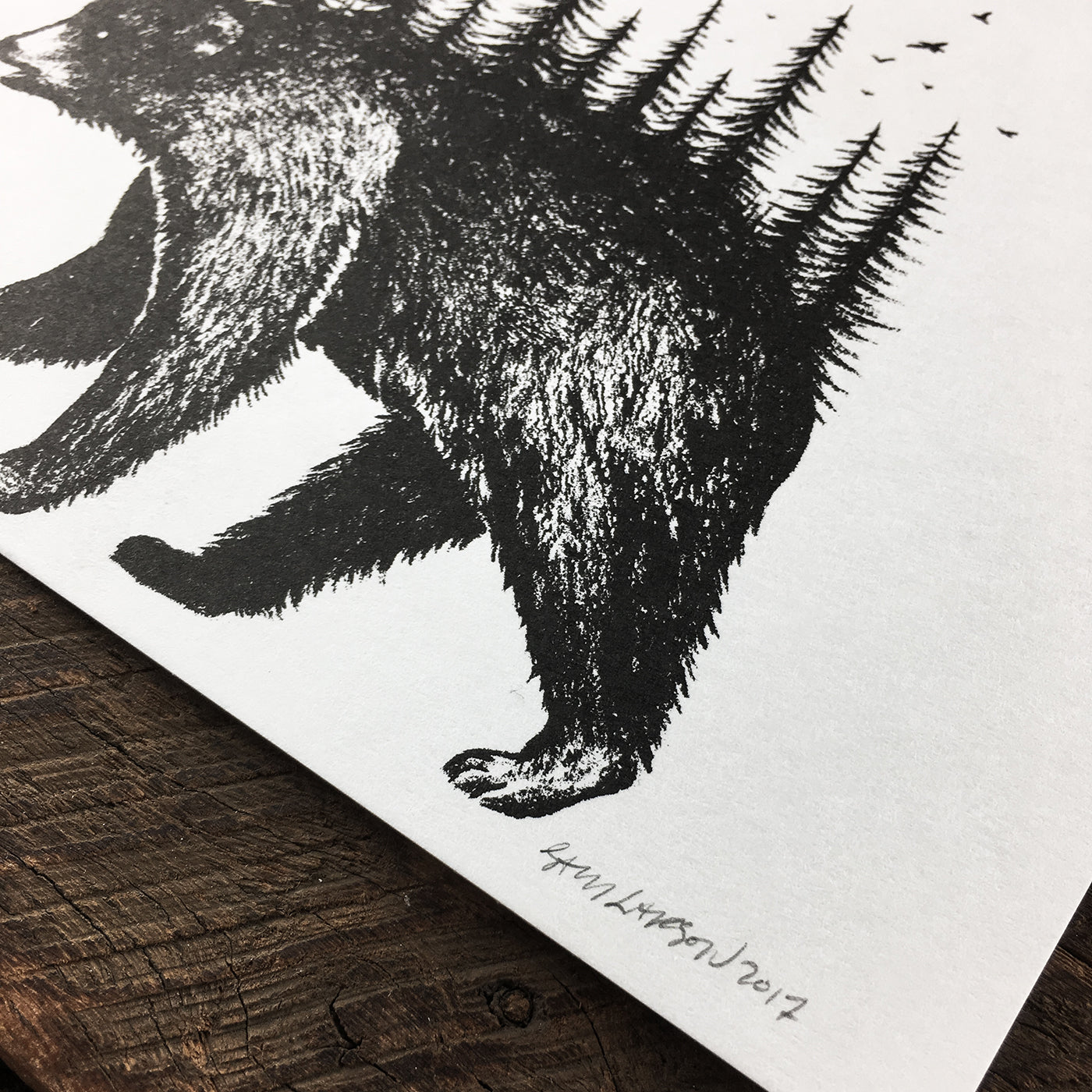Bear Pines - Signed Print #48