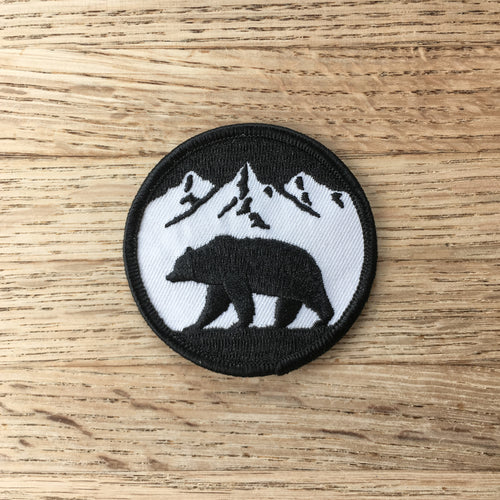 Bear Silhouette - Embroidered Patch