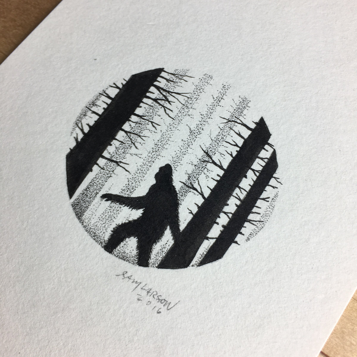 Big Foot - Original Illustration 4x6in