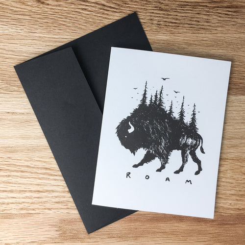 Greeting Cards - Bison Pines