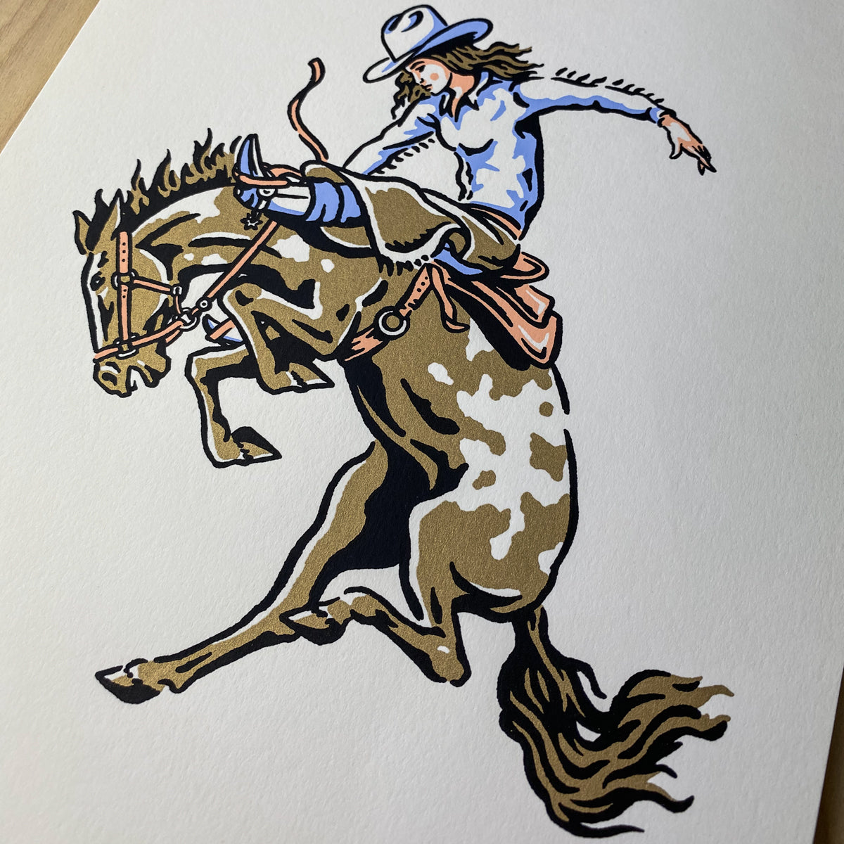 Bronco Rider - Signed 8x10in Print #252