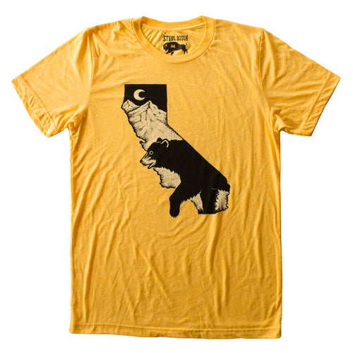 CA Black Bear T-shirt (Yellow Gold)