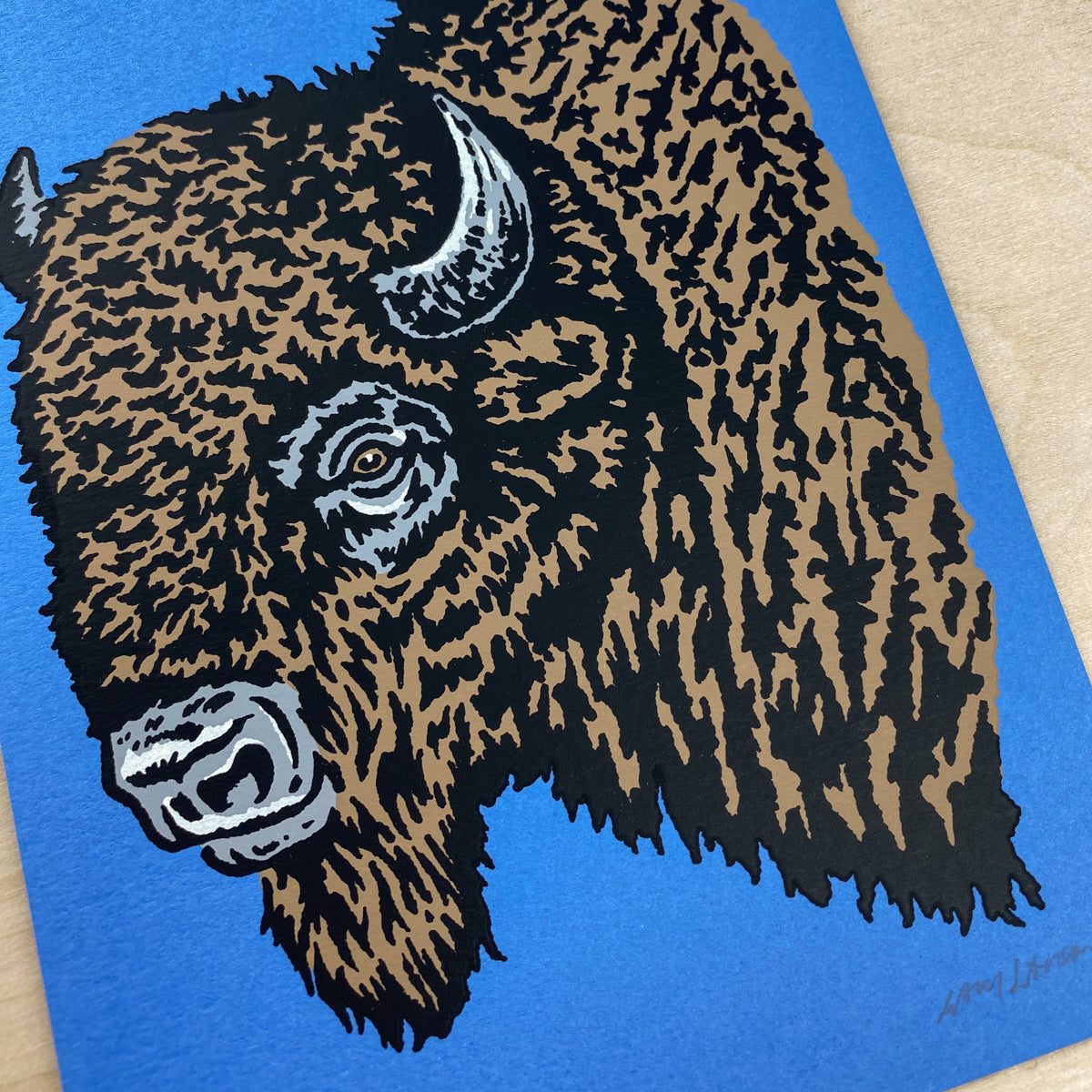 Colorado Bison - Signed 5x7in Print #225