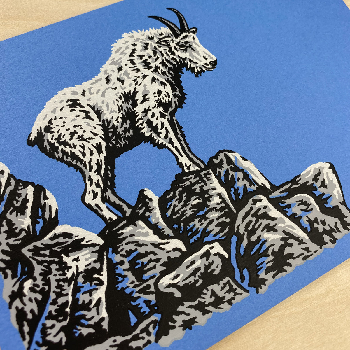 Colorado Mountain Goat - Signed 7x5in Print #224